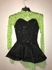 Green and Black Womens Adult Small Jazz Dance Costume