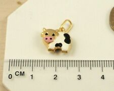 Sassi Ladies Girls Childs 375 9ct Yellow Gold Enamel Cow Pendant Only