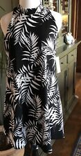 Lucy Love Black White ZAIRIA SWING DRESS Medium Black White Print NWT