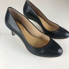 CC Corso Como Womens Linnden Black Mid Pumps Size 6.5 Heels Leather Work Career