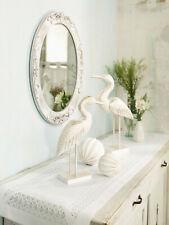 Spiegel oval  Wandspiegel  Rosen Shabby Vintage 49 x 61 cm weiss Nostalgie