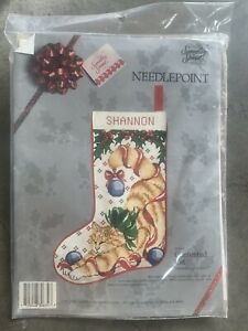 Something Special Needlepoint Kit 30634 Contented Cat Christmas Stocking New!