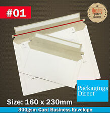 500x Card Mailer #01 160x230mm 300GSM Envelope A5 C5 Size Tough Bag Replacement