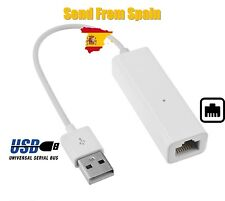 USB to Ethernet RJ45 Female Network LAN Adapter Dongle 100Mbps
