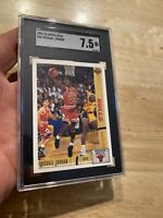 Michael Jordan SGC 7.5 Upper Deck Card #44 Chicago Bulls INVEST 1991 Last Dance