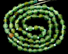 2000 Years Old Roman Green Glass Beads Strand  5 mm in dia -17""