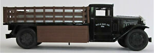 ERTL~1930 DIAMOND 2 1/2 TON PIPE LOAD TRUCK~COIN BANK~GAS & ELECTRIC CO~DIE CAST
