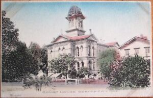 Oregon City, OR 1910 Postcard: Court House Building - Hand-Colored - Ore