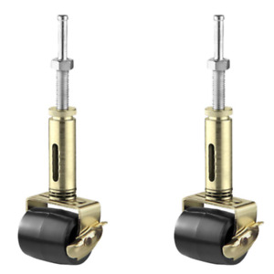 Shepherd 2-1/8 in. Adjustable Rubber Bed Frame Casters with Soft Tread (2-Pack)
