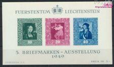 Liechtenstein Bloque 5 nuevo 1949 exposicion de sellos (9029982