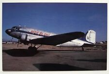 United Airlines (Restored Aircraft) Douglas DC-3A Postcard