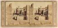 Pompei Italia Foto Sommer & Behles Stereo Cartoncino Rotto Vintage Albumina