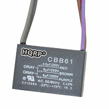 HQRP Harbor Breeze Ceiling Fan Capacitor 4.5uf+6uf+6uf 5-Wire CBB61 Replacement