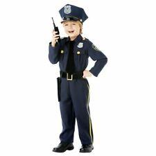 Child Police Officer Uniform US Cop Age 8-10 Boys Kids Fancy Dress Costume