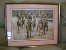 "WILLIAM SLOAN LITHO PRINT Signed & Numbered 44/380 HORSE MUDDERS 22""X28"" FRAMED"