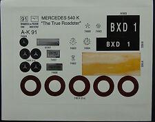Pocher 1:8 Mercedes Benz 540 K The True Roadster K 91 Aufkleber Set M21