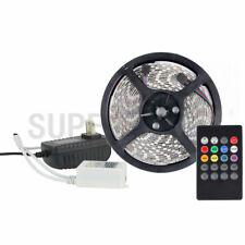 5M RGB 300leds 3528 SMD IP33 Indoor LED Light Strip+20Keys IR Sound Remote+Power