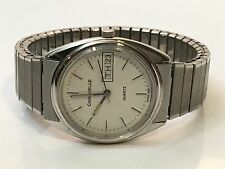 VINTAGE CARAVELLE  MENS QUARTZ WATCH NEW FROM THE LATE 1970s(58992T)
