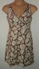 BODEN brown floral dress UK 10 US 8 EU 38
