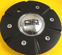 Double G Wheels Flat Black/Chrome Custom Wheel Center Cap # 504H174-1