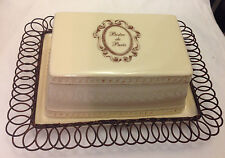 IMAX IMPORTS CHINA BISTRO DE PARIS COVERED BUTTER / CHEESE DISH W/ METAL FRAME