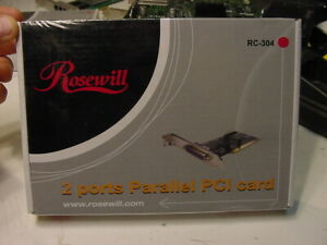 NEW SEALED - ROSEWILL 2 PORTS PARALLEL PCI CARD RC-304