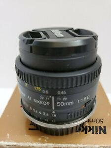 Nikon AF Nikkor 50mm f/1.8D Lens for DSLR Cameras with Canon EF Mount Adapter