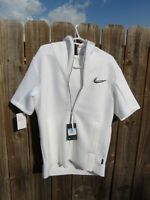 Nike Training Therma Short Sleeve Hoodie Men Sz M $140 White BQ9289-100