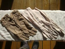Vintage Lot 2 Pair Ladies Gloves 50-60's Nylon Dress Style Mid Arm Length Glamor