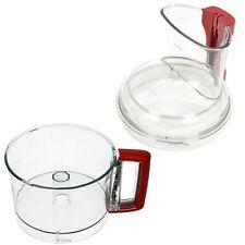 MAGIMIX Food Processor Mixing Bowl + Lid Chute Main Mixer Red Handle 3L 4200 XL