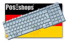 Orig. QWERTZ Tastatur Toshiba Satellite L550 L500 L505 Series DE Weissgrau Neu