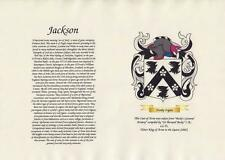 ARMORIAL HISTORY & FAMILY COAT OF ARMS PARCHMENT SCROLL & FREE A4 SURNAME SCROLL