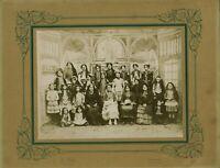 Rare Photo ancienne groupeThéâtrale 1910 / 1920 St Calais Sarthe costumes décors