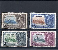 Gold Coast GV 1935 Silver Jubilee set sg 113-16 Used