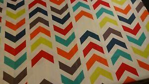 SHOWER CURTAIN  Bright Bold Colorful Geometric Fabric