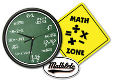 MATH CLASS Wall Clock & Sign + Math Decal geek gift