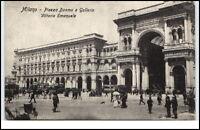 Milano Mailand Italien Postkarte ~1910/20 Piazza Duomo Galleria Vittorio Emanuel
