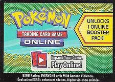 10x Pokemon Dragons Exalted Code Cards for Pokemon TCG Online Booster Packs
