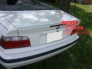 Matte Black Trunk Lip Spoiler For BMW E36 3-series Convertible ◎