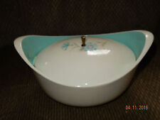 Vintage Aqua Taylor Smith (Ever After?) Lidded Serving Dish Beautiful!!