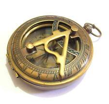 "Brass Pocket Compass Nautical Push Button Compass Antique Style 3"" Marine Compas"
