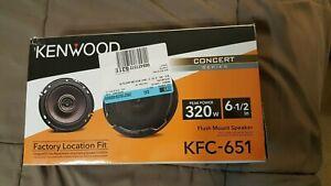 "Kenwood KFC-651 6 1/2"" Flush Mount Speaker 320 Watt Peak Power Concert Series"