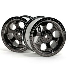 HPI 3161 6-Spoke Wheel Black Chrome 83x56mm (2) Savage Flux HP / Savage XL 5.9