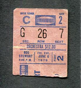 1979 Rod Stewart Concert Ticket Stub Madison Square Garden Blondes Have More Fun