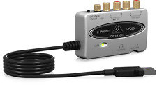 BEHRINGER UFO202 USB Audio Interface w/ Phono Preamp - Vinyl/Casette to MP3