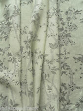 Ralph Lauren Curtain Fabric MARLOWE FLORAL SHEER 1.55m Dove Grey Linen 155cm