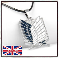 Attack on Titan Shingeki no kyojin  Medallion Necklacke High Quality *UK Seller*