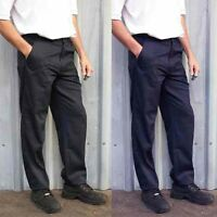 Mens Classic Work Trousers Size 28 to 56 Black or Navy Short Reg Or Long  / 901