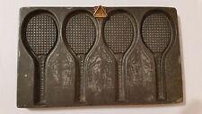 Tennis Rackets Anton Reiche flat Chocolate mold  Antique Vintage + hanging point