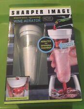 New Sharper Image Wine Aerator - Battery Powered - LED Lights - Spinning Chamber
